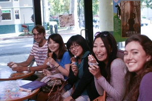 Felix, Grace, Tomomi (Japan), and Sara