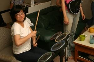 Pamela on Drums!